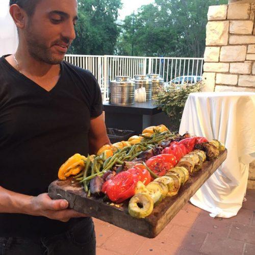ירקות אפויים באירוע של מכבי דנט