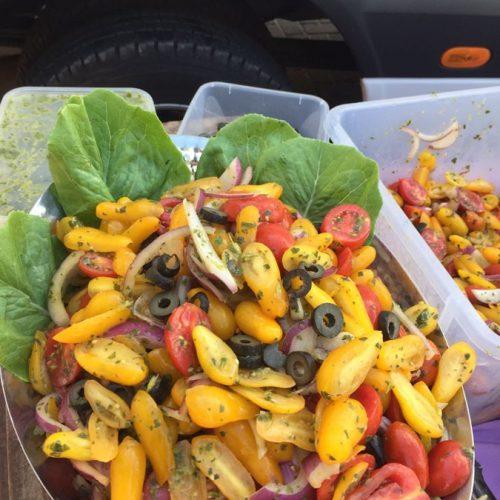 סלט ירקות גס באירוע של מכבי דנט